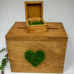 Pudełko na koperty i pudełko na obrączki - komplet