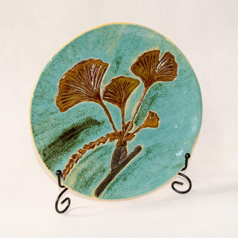 Ceramiczny talerz dekoracyjny Miłorząb