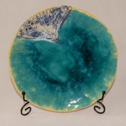 Ceramiczny talerz dekoracyjny Dmuchawiec