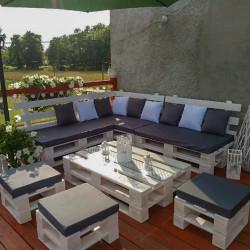Narożnik ogrodowy + stół z palet