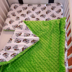 Komplet do łóżeczka - kocyk + poduszka