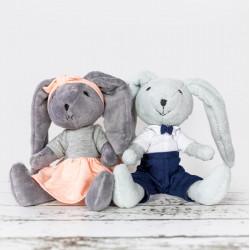 Ręcznie wykonana przytulanka królik Lila