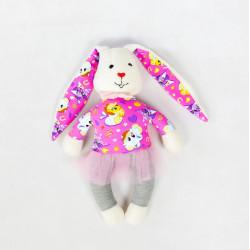 Ręcznie wykonana maskotka królik Tola
