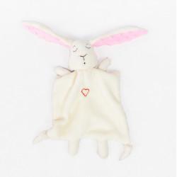 Ręcznie wykonany królik - przytulanka, kocyk