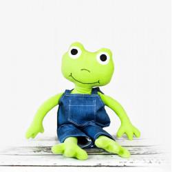Ręcznie wykonana maskotka żaba