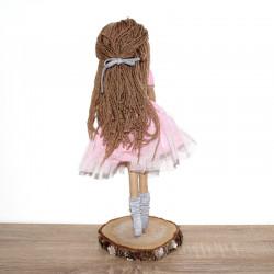 Ręcznie szyta bawełniana lala Mia