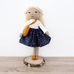 Ręcznie szyta bawełniana lala Hania