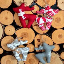 Zawieszki choinkowe świąteczne wykonane ręcznie